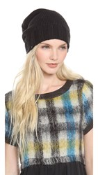 Plush Slouchy Fleece Lined Beanie Black