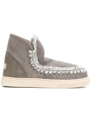 Mou Mini Eskimo Boots Women Suede Wool Rubber 40 Grey