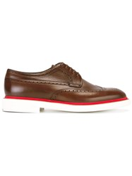 Paul Smith Ps By Brogue Detail Derby Shoes Brown