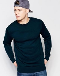 Brave Soul Crew Neck Jumper Green