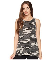 Dylan By True Grit Camo Cargo Tank Top Heather Sleeveless Gray