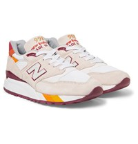 New Balance 998 Coumarin Pack Suede Leather And Mesh Sneakers Cream