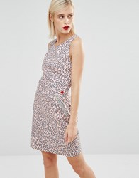 Love Moschino Pink Leopard Print Dress Pink