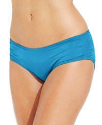 Coco Reef Ruched Hipster Bikini Bottoms Women's Swimsuit Sea Blue