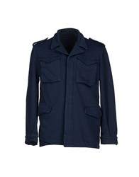 Alain Coats And Jackets Jackets Men Dark Blue
