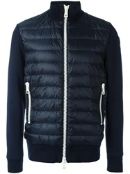 Moncler Padded Front Zip Up Jacket Blue