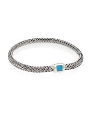 John Hardy Classic Chain Extra Small Turquoise And Sterling Silver Bracelet Silver Turquoise