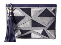 Rafe New York Large Celia Clutch Blue Marine Clutch Handbags