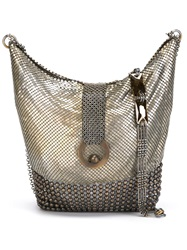 Laura B 'Space Cut' Hobo Bag Metallic