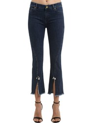 Coliac Petunia Cropped Stretch Denim Jeans Blue