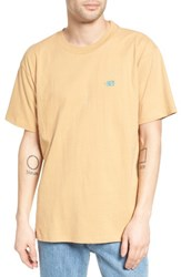 Obey Men's New Times Boxy Oversized T Shirt Sand