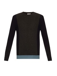 Valentino Colour Block Cashmere Knit Sweater