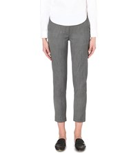 Warehouse Woven Slim Fit Trousers Grey