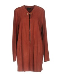 Atos Lombardini Overcoats Brick Red
