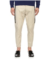 Dsquared Hockney Pants With Tux Detailing Stone Men's Casual Pants White