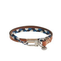 J.Crew Caputo And Co.Braided Double Wrap Bracelet Blue Combo