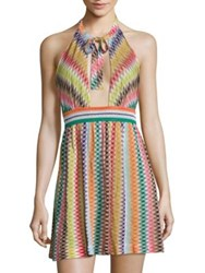 Missoni Mare Multi Tone Halter Dress Multicolor