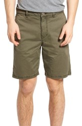John Varvatos Men's Star Usa Triple Needle Shorts Olive