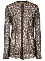 Sophie Theallet Lace Shirt Brown