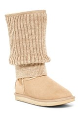 Australia Luxe Collective Fame Tall Genuine Shearling Boot Beige