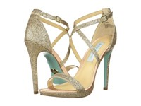 Blue By Betsey Johnson Andi Champagne Glitter High Heels Gold