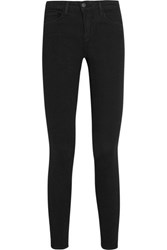 L'agence Chanelle Mid Rise Skinny Jeans Black