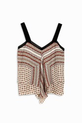 Derek Lam 10 Crosby Women S Printed Two Tier Camisole Boutique1 Multi