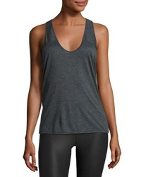 Alo Yoga Geometric Athletic Tank Top Charcoal