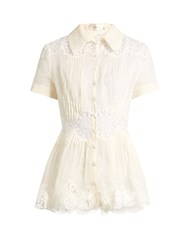 Zimmermann Windsome Sunday Cotton Blouse Cream