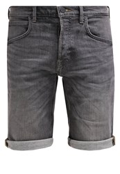 Lee Denim Shorts Grey Worn Grey Denim
