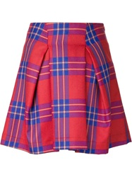 Vivienne Westwood Anglomania 'Trail' Tartan Skirt Red
