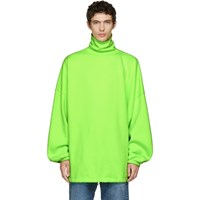 Balenciaga Green Oversized Turtleneck