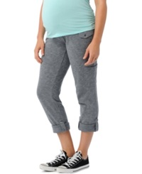 Motherhood Maternity Convertible French Terry Cargo Pants Grey