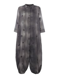 Crea Concept Spot Print Shirt Dress Dark Grey