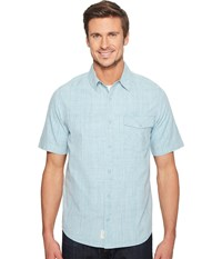 Woolrich Zephyr Ridge Solid Shirt Cloud Blue Men's Short Sleeve Button Up
