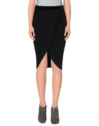 Cycle Knee Length Skirts Black
