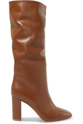Gianvito Rossi Laura 85 Leather Knee Boots Tan
