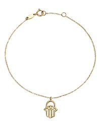 Moon And Meadow Hamsa Hand Charm Bracelet In 14K Yellow Gold 100 Exclusive
