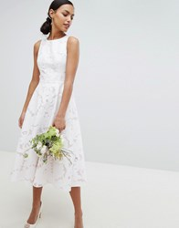 Ted Baker Tie The Knot Burnout Midi Bridesmaid Dress Pink