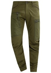 G Star Gstar Powel 3D Zive Tapered Cuffed 3D Cargo Trousers Sage Oliv