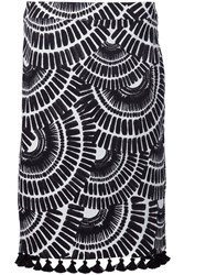 Trina Turk Ethnic Print Skirt Black