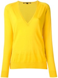 Proenza Schouler V Neck Jumper Yellow Orange