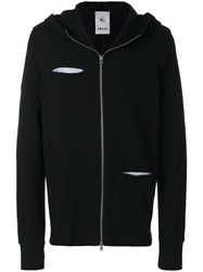Lost And Found Rooms Ribbed Hoodie Cotton Black