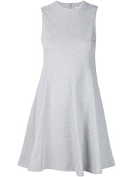 T By Alexander Wang Flared Short Dress Grey