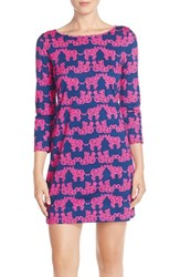Women's Lilly Pulitzer 'Marlow' Elephant Print Pima Cotton Minidress