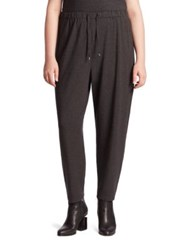Eileen Fisher Drawstring Slouchy Ankle Pants Charcoal