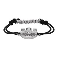 Vivienne Westwood Silver And Black Gonzalo Friendship Bracelet