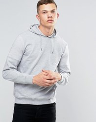 Another Influence Ribbed Shoulder Pull Over Hoodie Grey
