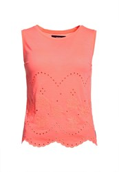 Superdry Cutwork Slub Shell Top Orange