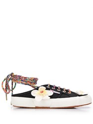 Superga Alanui X Flower Sneakers Black